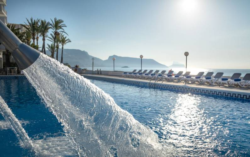 Swimming pool cap negret hotel altea, alicante