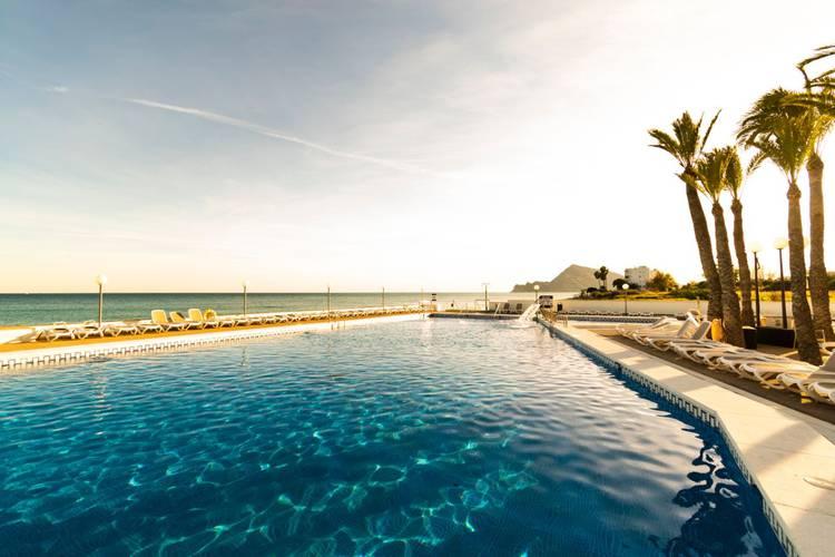 Swimming pool cap negret hotel altea, alicante